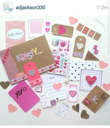 adornos para cartas de amor con scrapbook