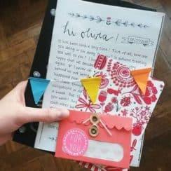 adornos para cartas de amor creativos
