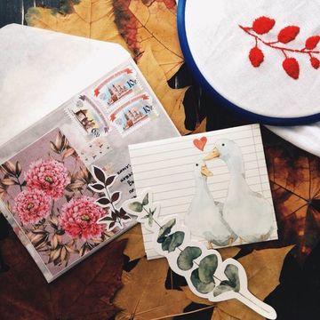 adornos para cartas de amor de recortes de papel