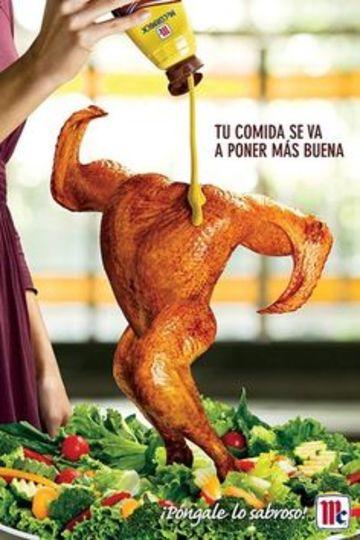 afiches publicitarios creativos de alimentos