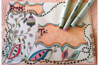 decoracion de cartas a mano coloreadas