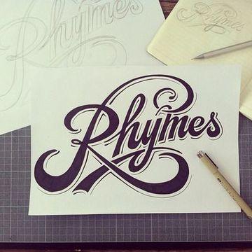 diseño de letras para logos en script