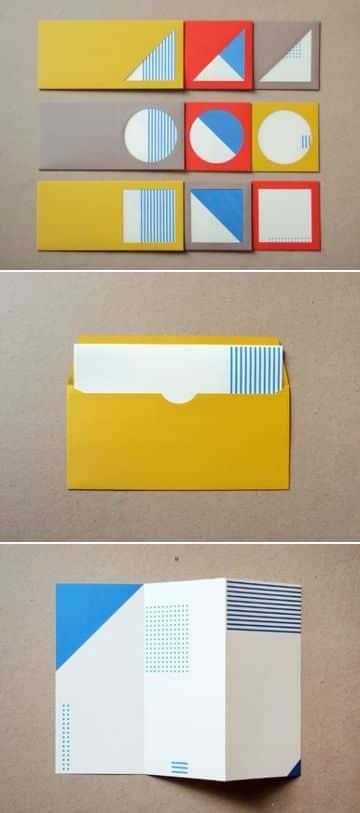 diseños con figuras geometricas en sobres