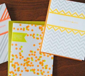 diseños con figuras geometricas en tarjetas
