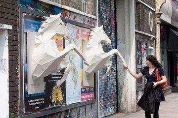 formas de carteles publicitarios en 3D