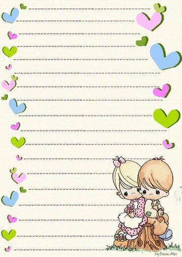 hojas para cartas de amor para descargar