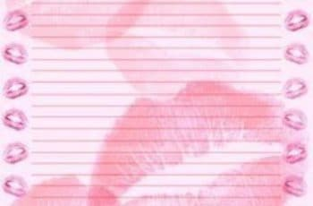 hojas para cartas de amor para imprimir