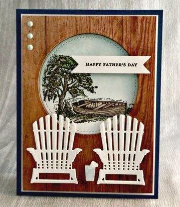 tarjetas en papel madera para dia del padre