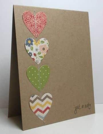 tarjetas en papel madera sencillas