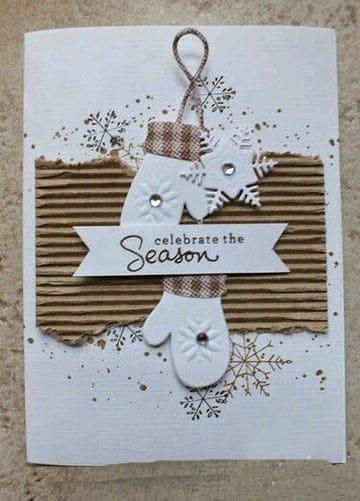 tarjetas hechas con cartulina navideñas