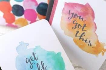caratulas creativas para cuadernos con acuarela
