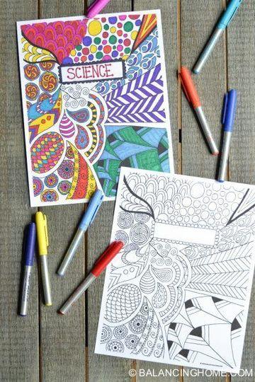 diseños de portadas para trabajos hechas a mano