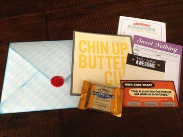 cartas bonitas para novios con golosinas