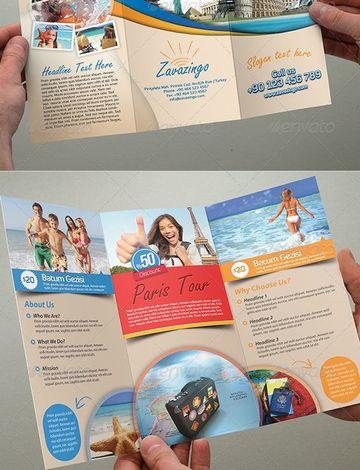 ejemplos de folletos turisticos de Paris