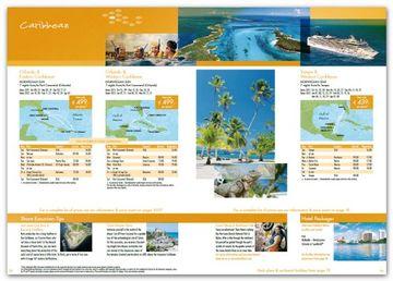ejemplos de folletos turisticos del Caribe