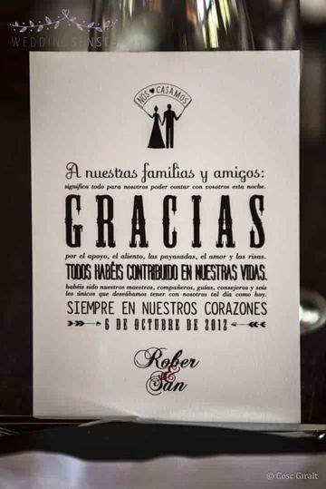 frases de agradecimiento boda originales en afiches