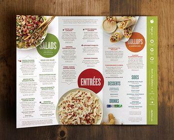 modelos de tripticos para copiar para menu de restaurant
