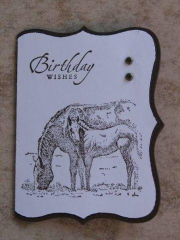 tarjetas de cumpleaños de caballos en sepia
