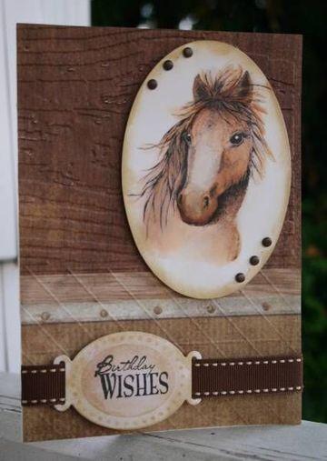 tarjetas de cumpleaños de caballos hechas a mano