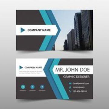 tarjetas de presentacion para editar horizontal