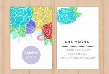 tarjetas de presentacion para editar para mujeres