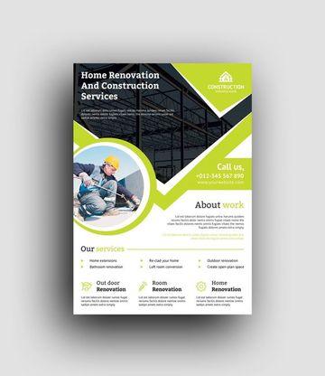 brochure de empresas constructoras en vectores