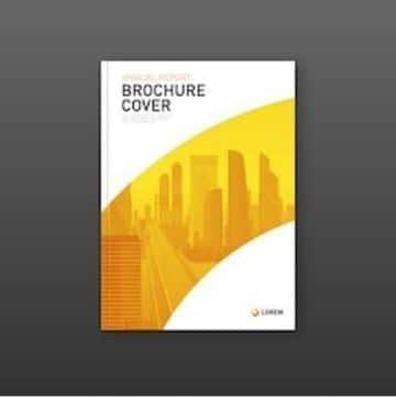 brochure de empresas constructoras sencillo