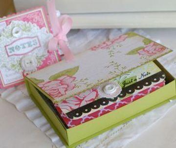 cajas para tarjetas de presentacion hecha a mano
