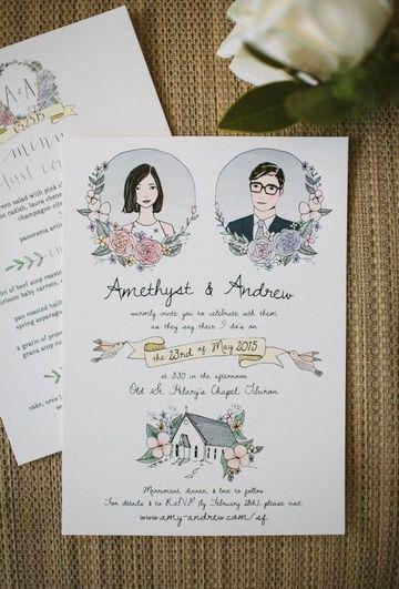 ideas para invitaciones de boda hechas a mano
