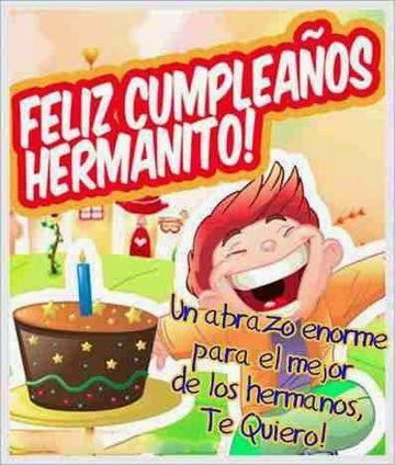 postales de cumpleaños para un hermano en caricaturas