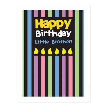 postales de cumpleaños para un hermano sencillas