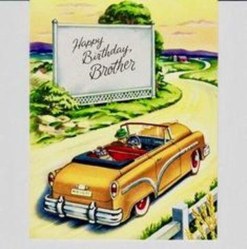 postales de cumpleaños para un hermano vintage