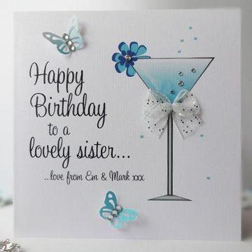tarjetas de cumpleaños a mi hermana personalizada