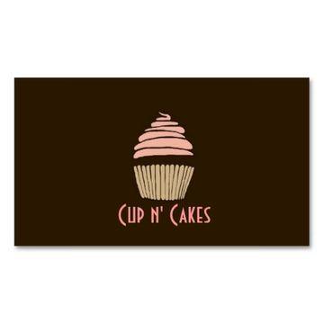 tarjetas de presentacion de negocios de cupcake