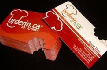 tarjetas de presentacion de negocios de gastronomia