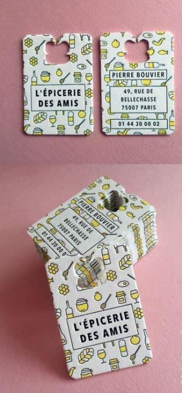 tarjetas de presentacion de negocios en relieve