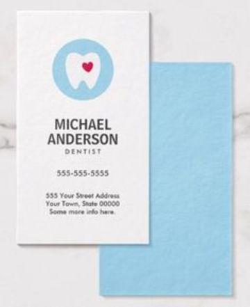 tarjetas de presentacion dentista sencillas