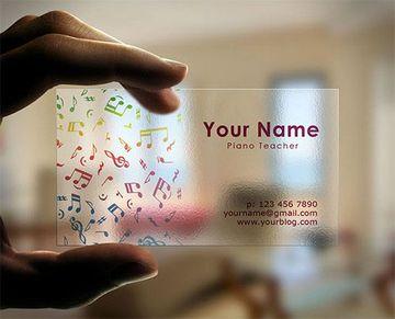 tarjetas de presentacion transparentes a colores