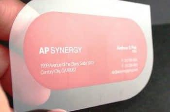 tarjetas de presentacion transparentes forma curva