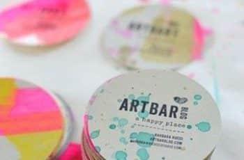 tarjetas personales creativas circulares
