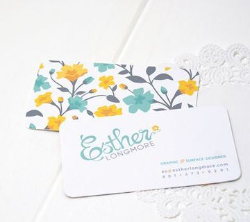 tarjetas personales creativas de mujer