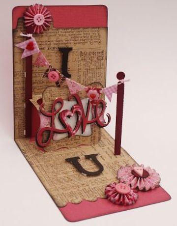tarjetas pop up de amor hecha a mano