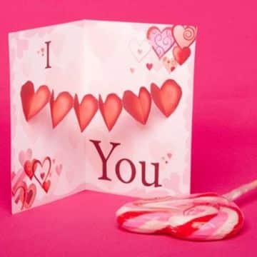 tarjetas pop up de amor para san valentin