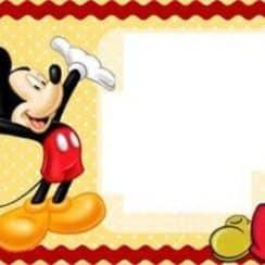 tarjetitas de cumpleaños de mickey para hacer