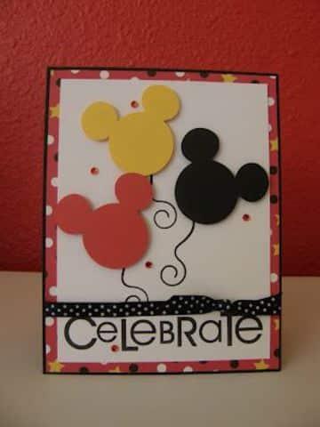 tarjetitas de cumpleaños de mickey sencilla