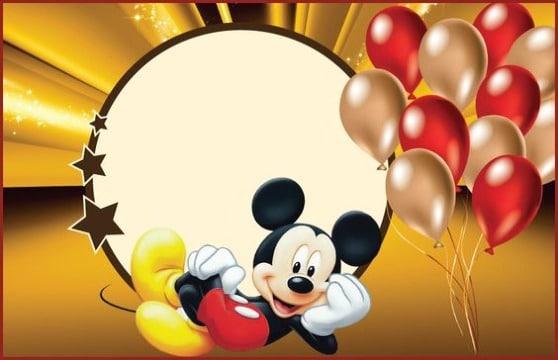 Diseños De Invitaciones De Mickey Mouse Para Editar