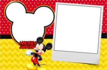 Invitaciones de mickey mouse para editar personalizadas