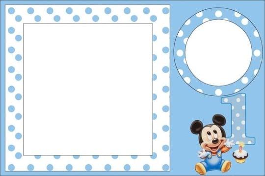 Invitaciones de mickey mouse para editar primer año