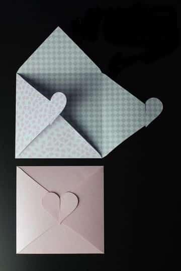 como hacer sobres bonitos con cierres creativos