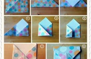 como hacer sobres bonitos con origami